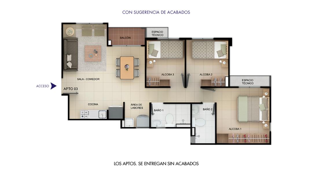 proyecto de interes social apartamento en soledad constructora bolivar