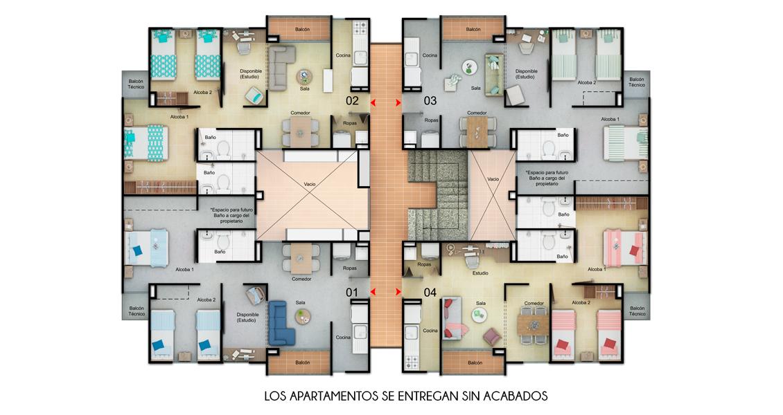 proyecto de apartamentos en santa marta con subsidio de vivienda, constructora bolivar