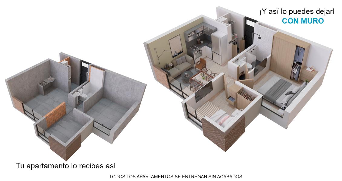 Novum Ricaurte, proyecto de apartamentos en Bogotá Constructora Bolívar.