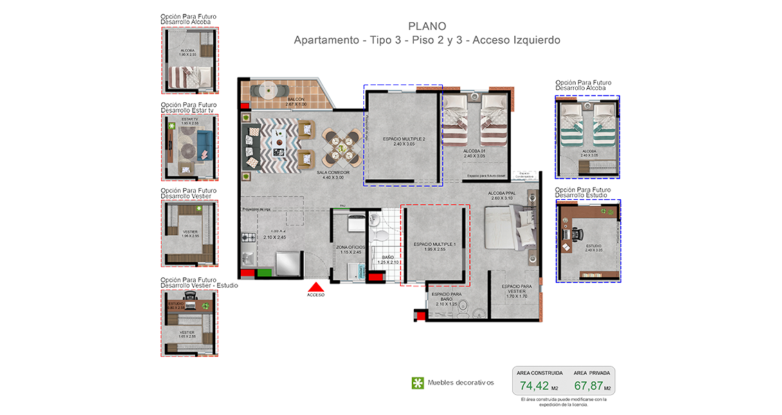 proyecto de apartamentos en el Valle del Cauca, constructora bolívar