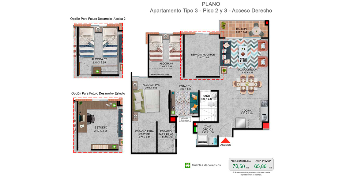 proyecto de apartamentos con subsidio de vivienda en cali, Constructora Bolivar