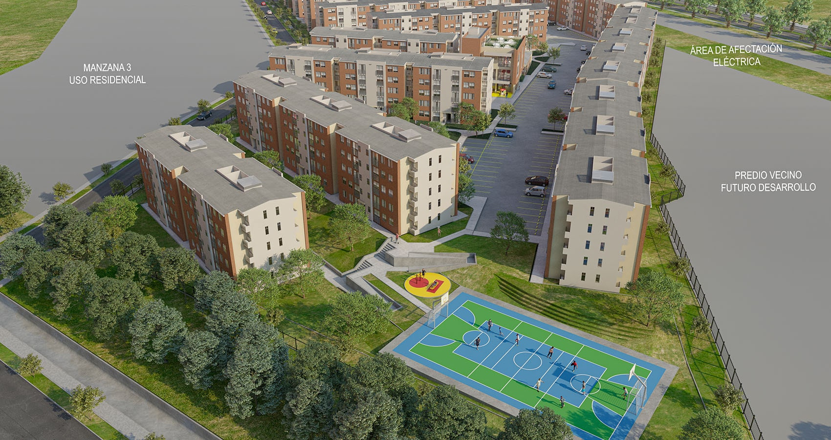Vista aérea Girasoles apartamentos Soledad Atlántico