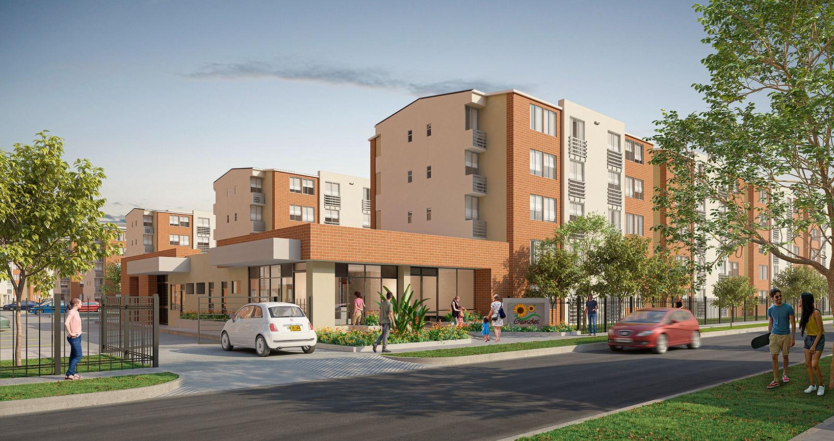 Portería Girasoles apartamentos Soledad Atlántico