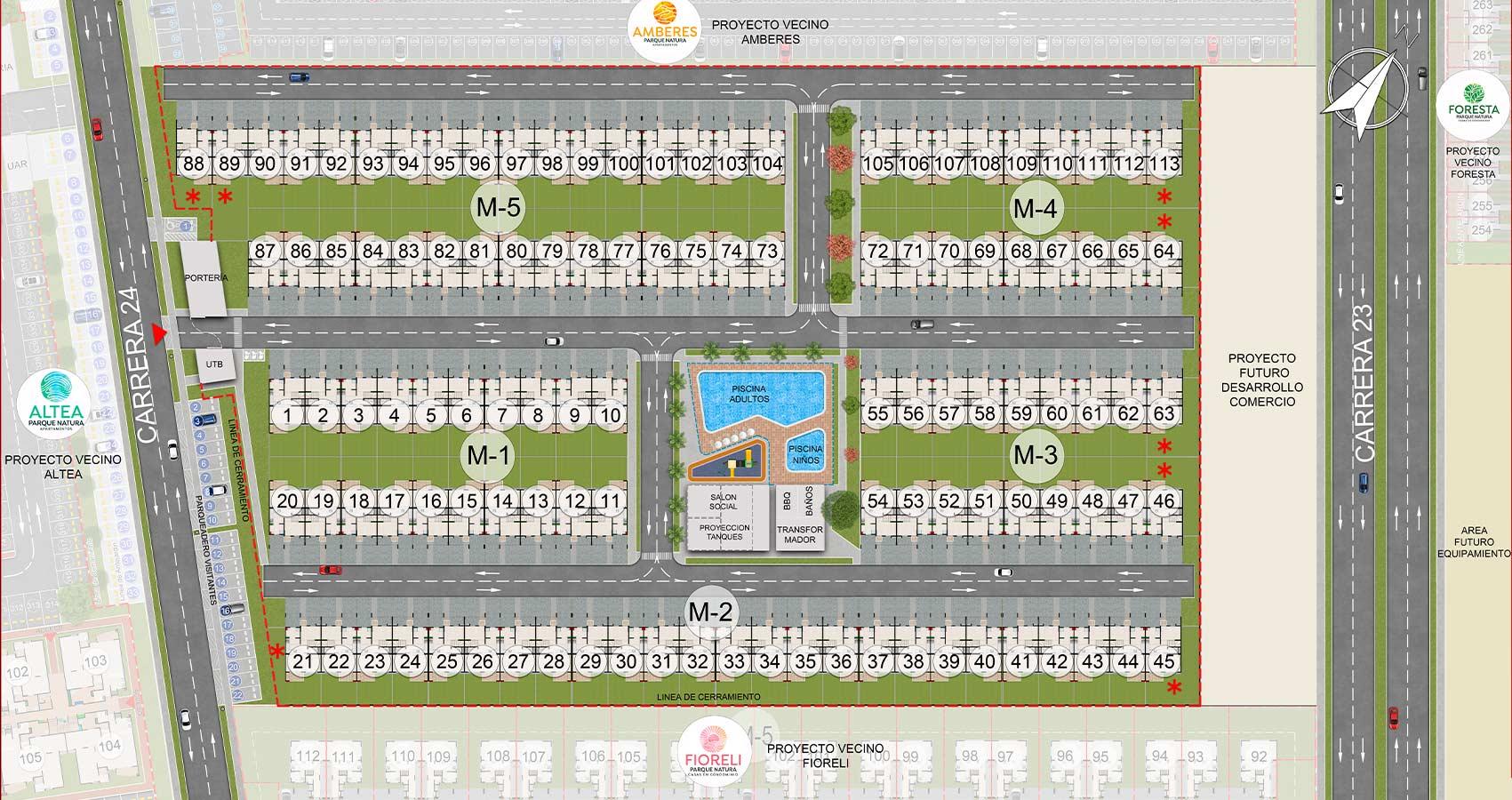 Trento proyecto de vivienda en Jamundi, Constructora Bolivar