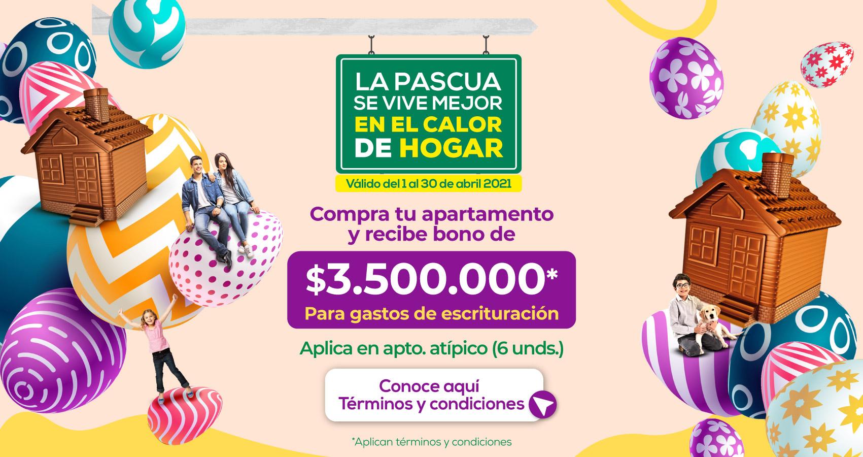 Beneficios abril Constructora Bolívar proyectos de Vivienda