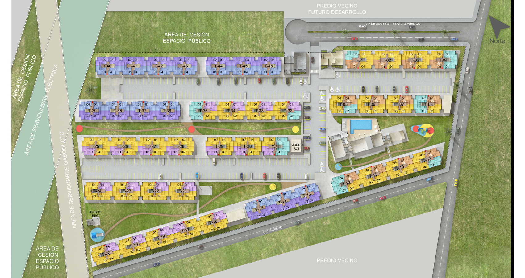 Camino de girasoles proyecto de vivienda en Soledad