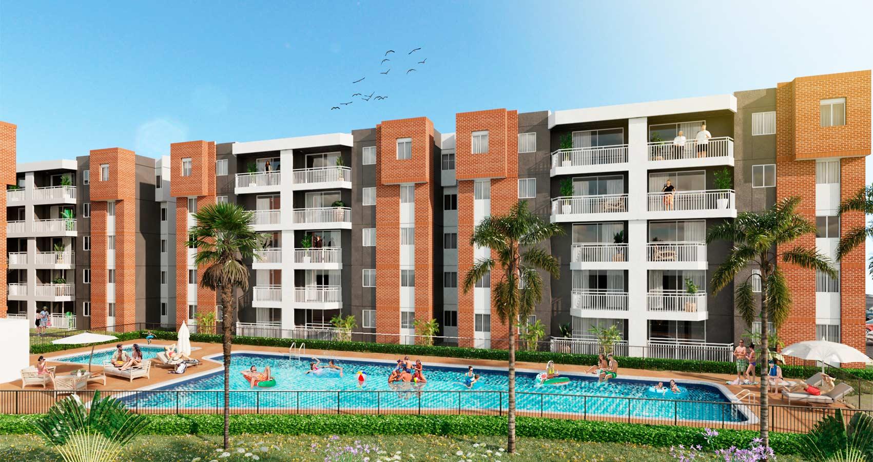 canaria nuevo proyecto de vivienda cali vivero parque residencial apartamentos constructora Bolivar