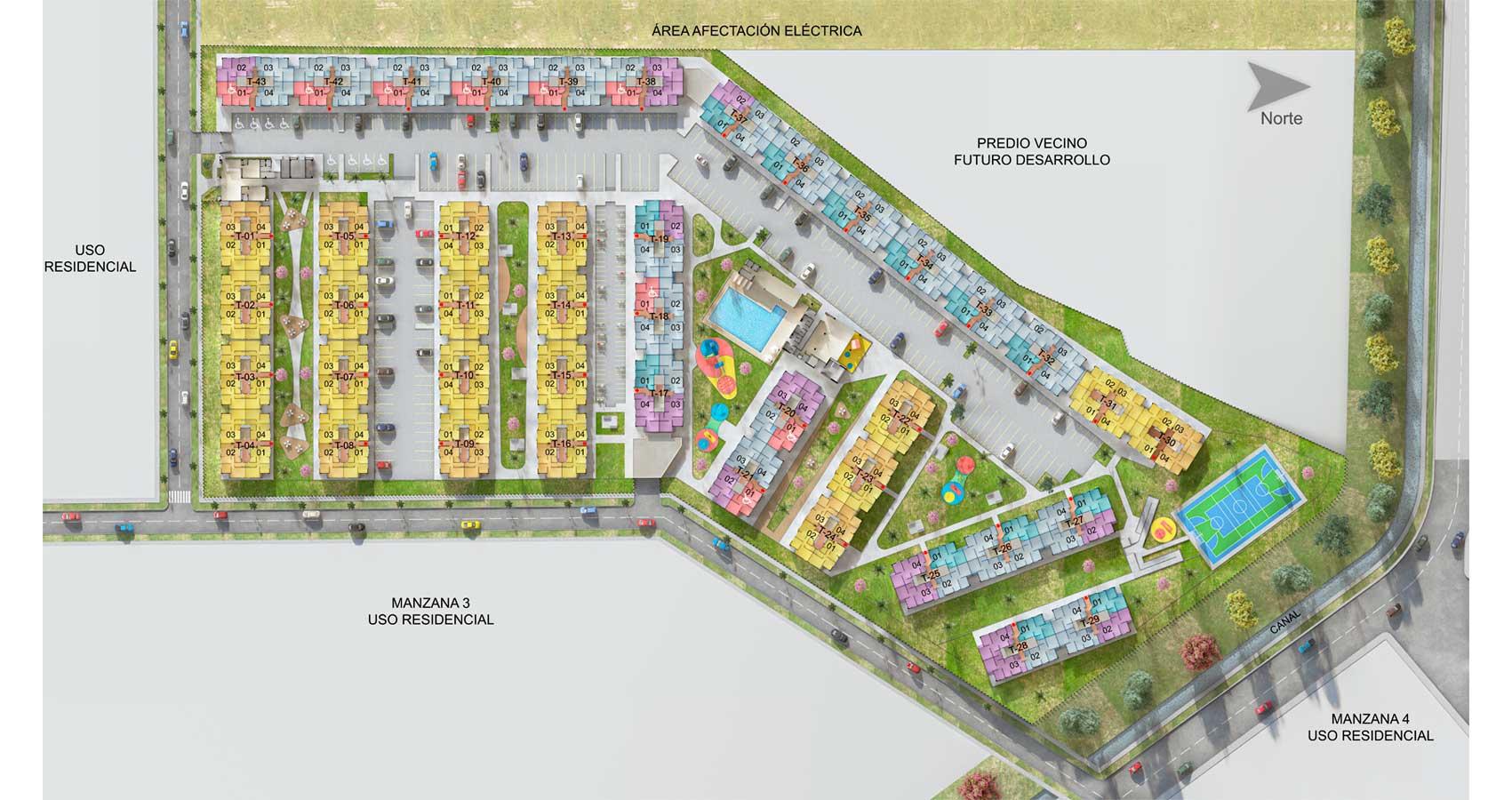 Planta urbana Girasoles apartamentos Soledad Atlántico