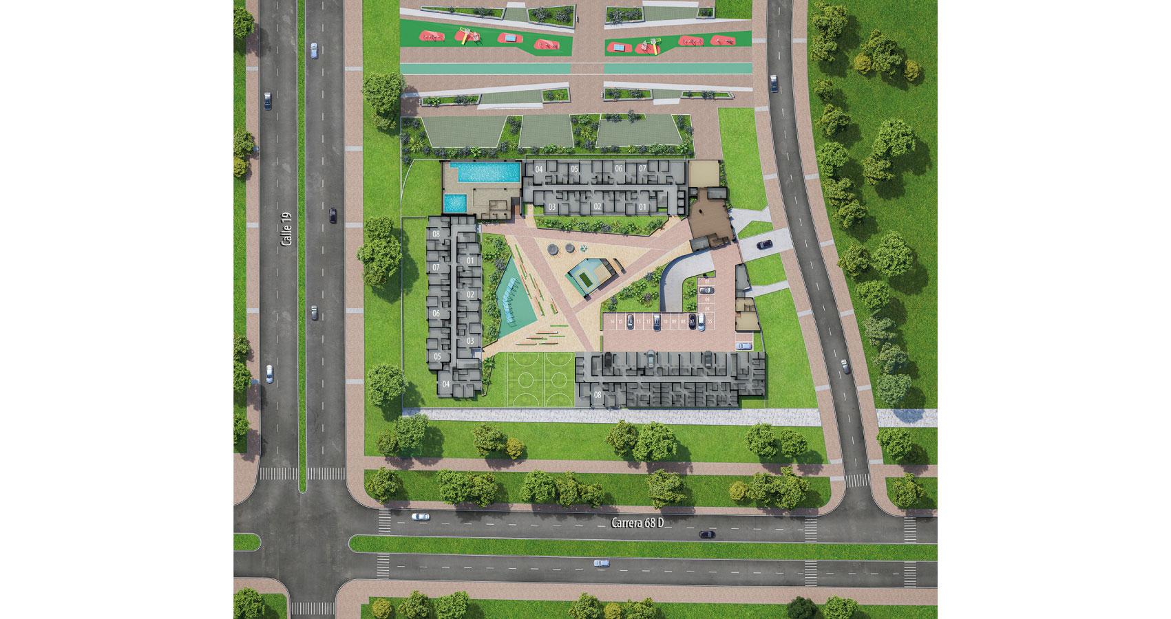 Austro proyecto de vivienda en Montevideo, Constructora Bolívar
