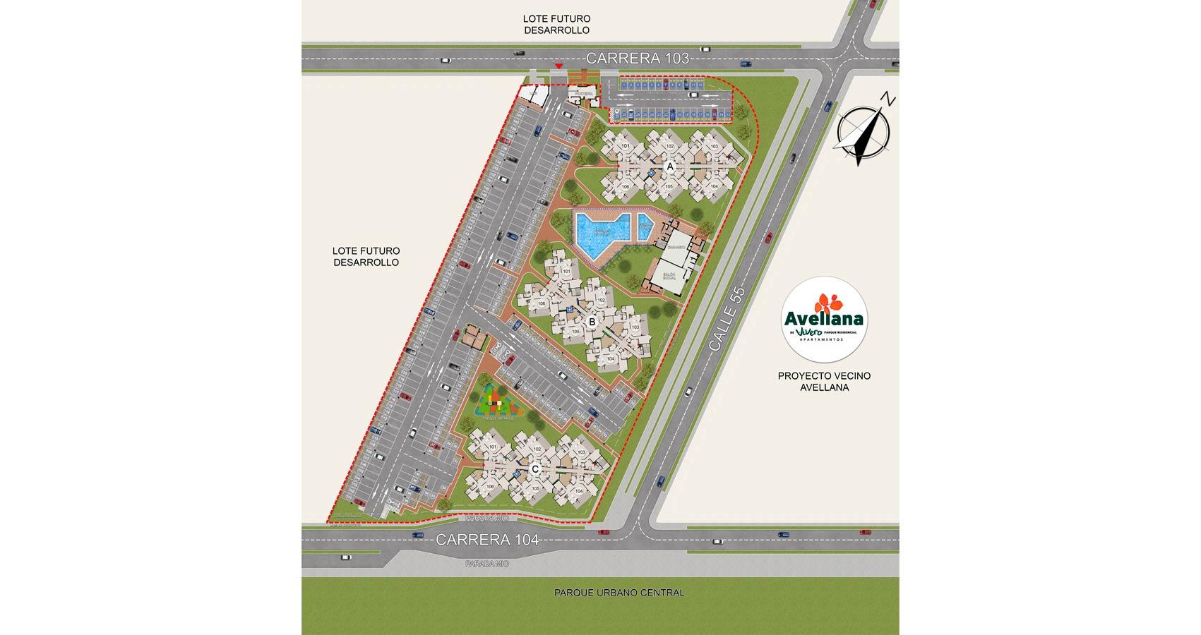 Plano de proyecto de vivienda Portobelo