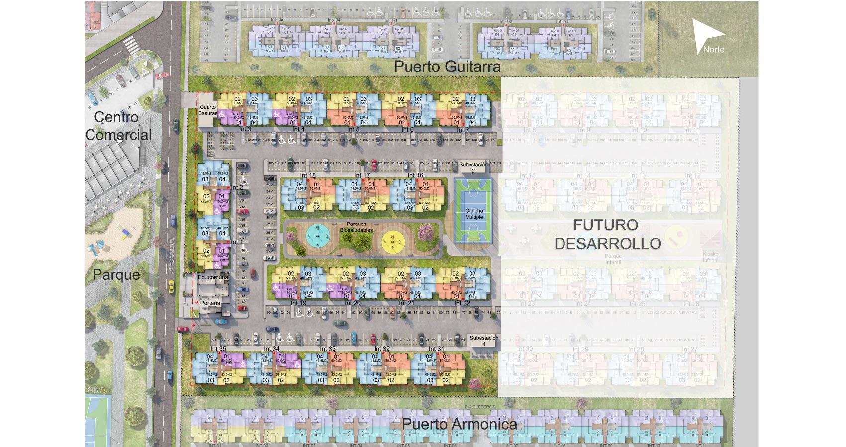 Puerto Címbalo proyecto vivienda con subsidio en Soledad Constructora Bolívar