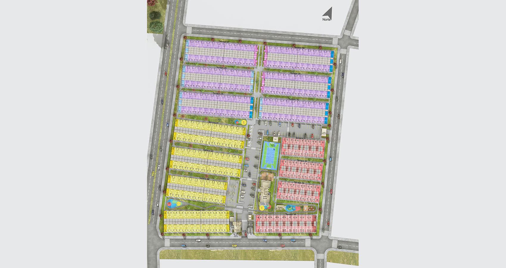 proyecto de casas nuevas en Cartagena Constructora Bolívar.