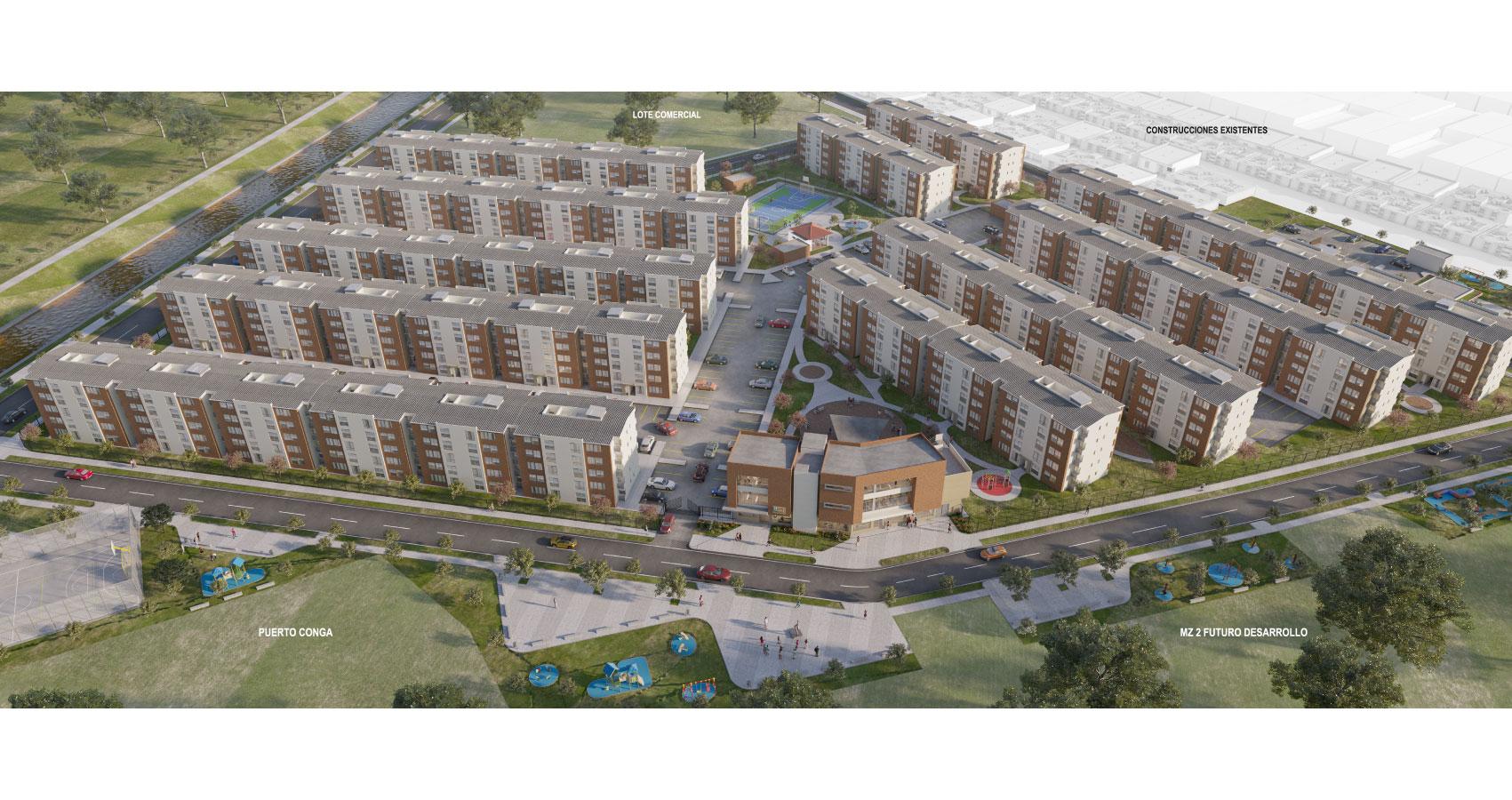 proyecto de vivienda en soledad con subsidio de vivienda  puerto campana