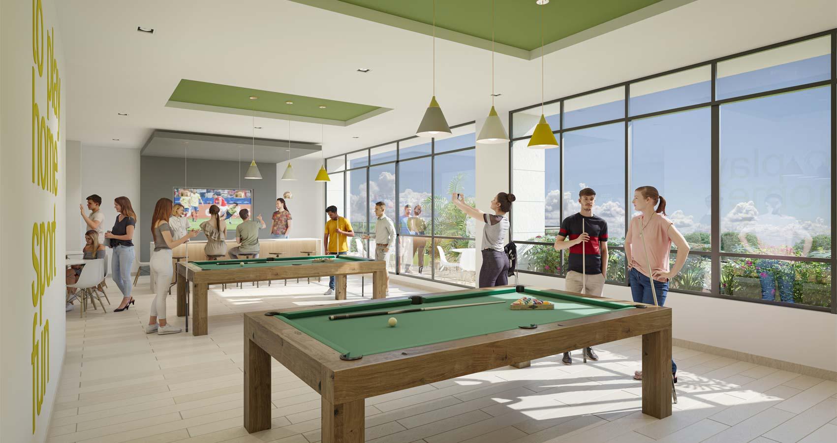 salón de juegos  Flora Proyecto de vivienda en Santa Marta, constructora Bolívar