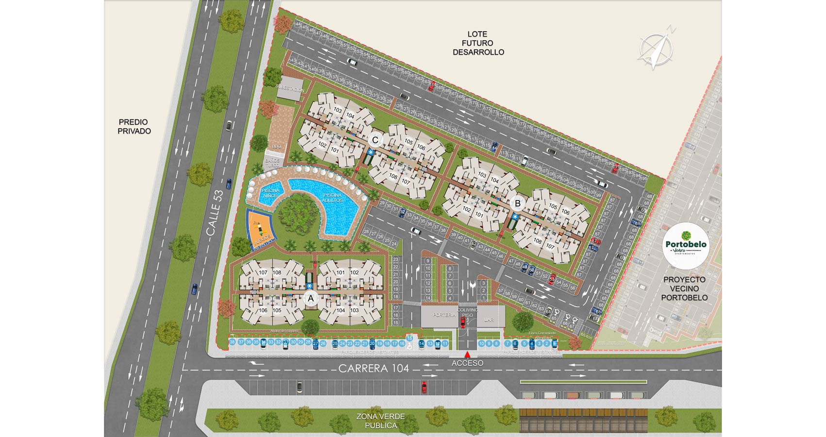 Treboles proyecto de vivienda en cali vivero parque residencial sur