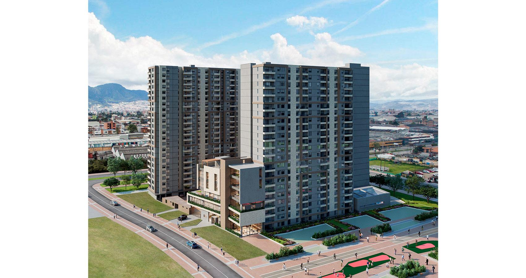 Austro proyecto de vivienda en Montevideo, Constructora Bolivar