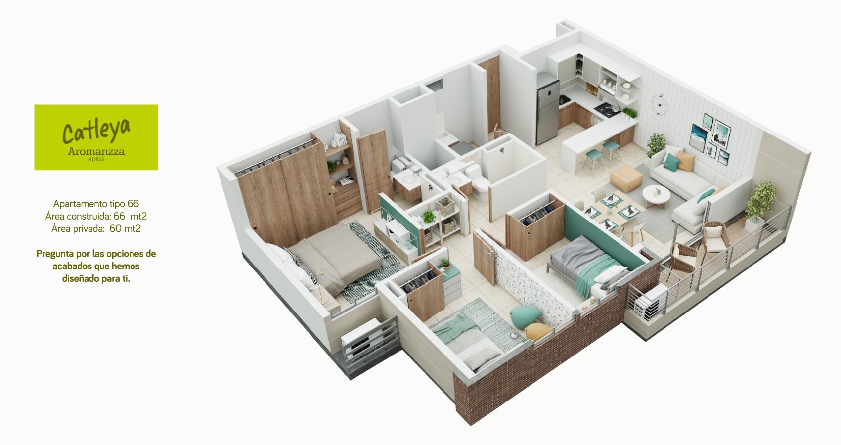 Apartamento tipo 66 Catleya - Aromanza