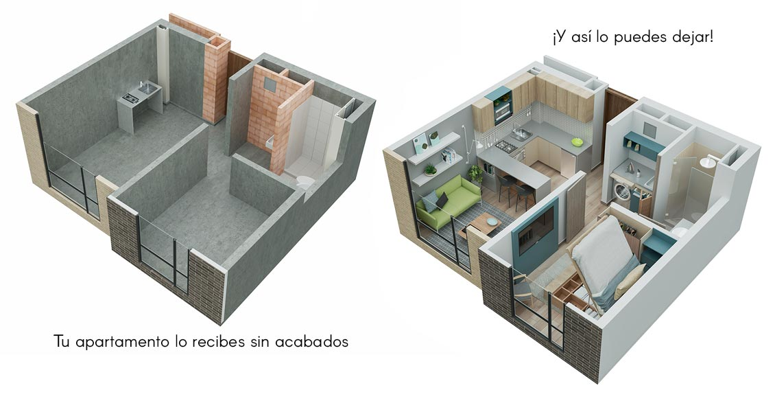 park living apartamento tipo 30 proyecto de vivienda en Bogotá Constructora Bolívar