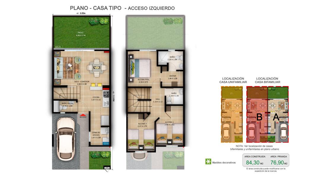 Proyecto de apartamentos en casas,  constructora bolivar