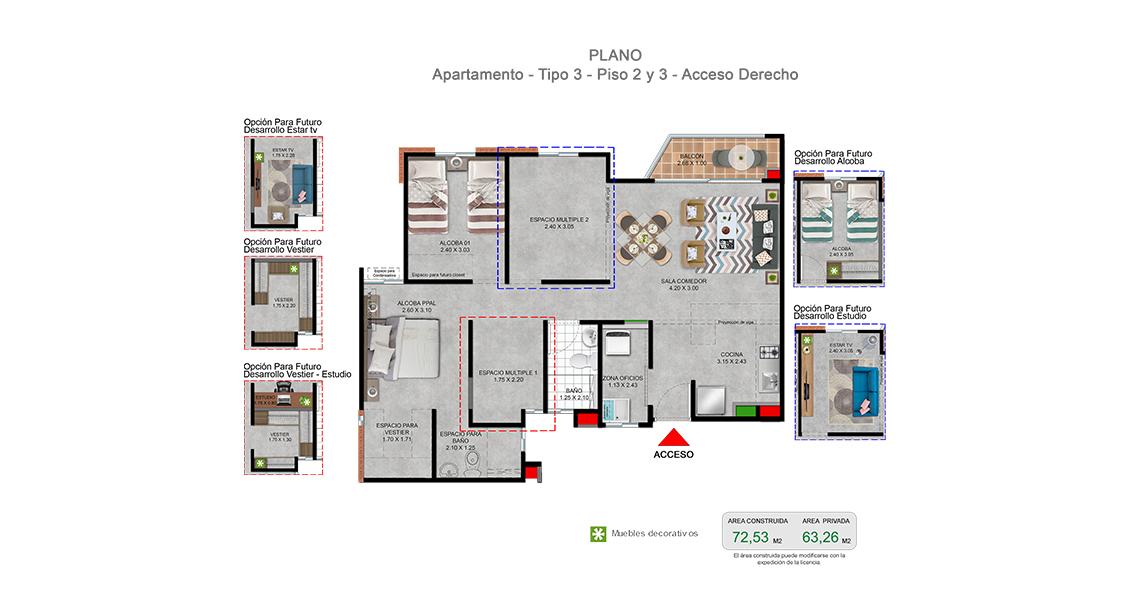 canaria apartamento proyecto de vivienda vivero residencial cali