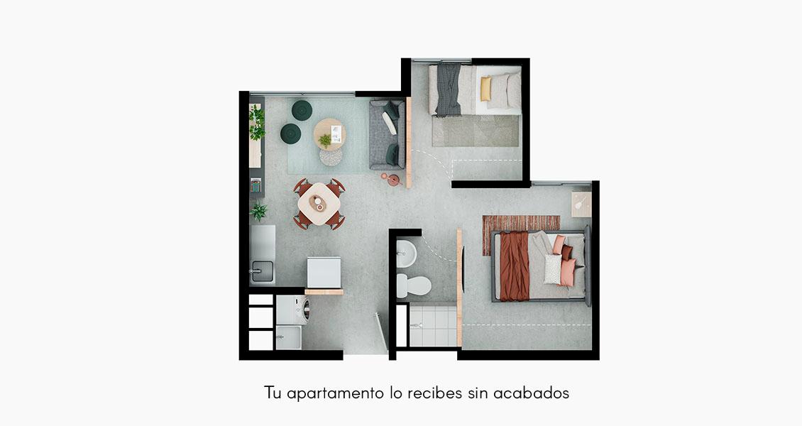 Veramonte Living tipologia 30 apartamento
